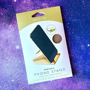 Moxyo Shimmery Gold Portable Phone Stand NWT